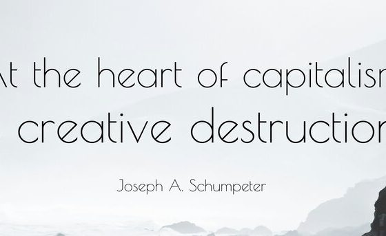 Creative destruction propels capitalism