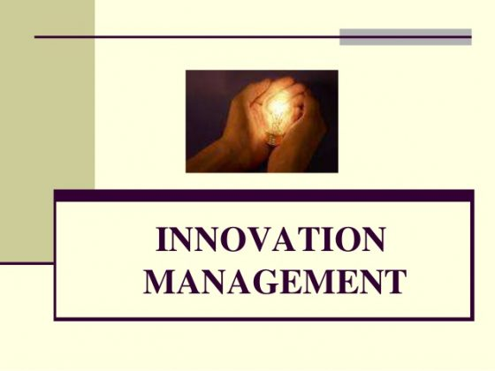 Innovation management is about winning the race in profiting from technology ideas--by helping customers to get jobs done better